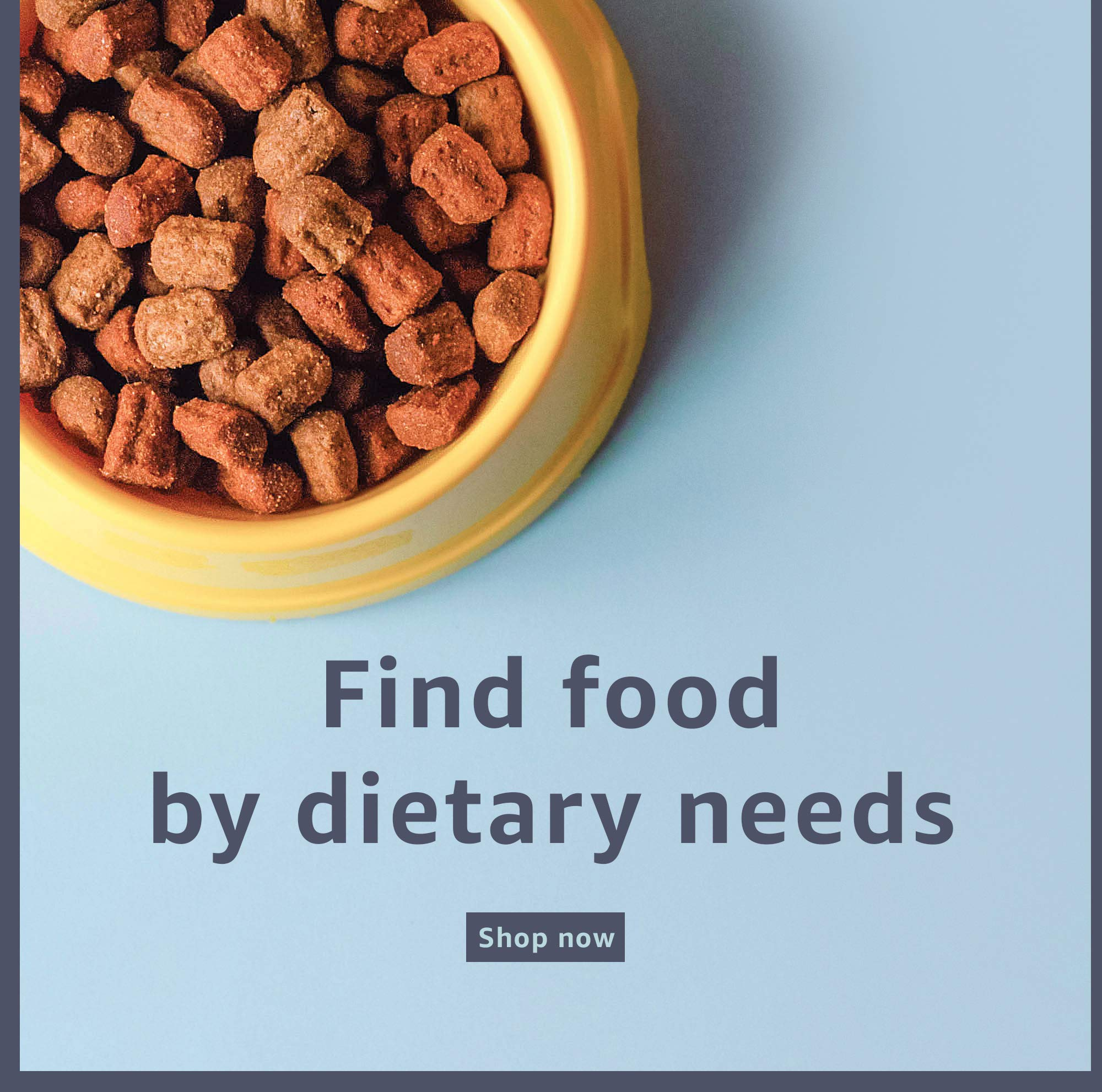 Find food by dietary needs