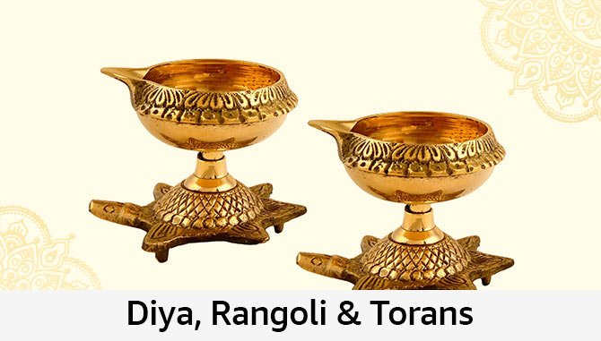 Diya, Rangoli and Torans