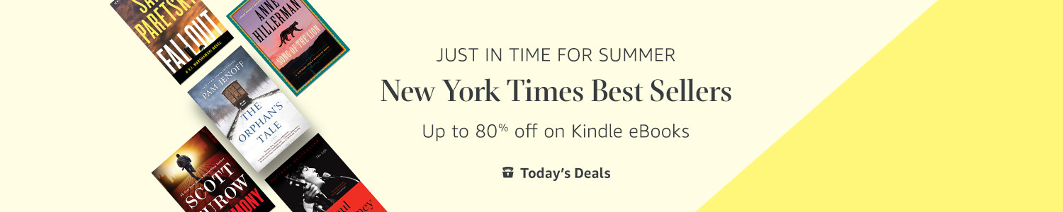 Today only - Up to 80% off select New York Times best sellers
