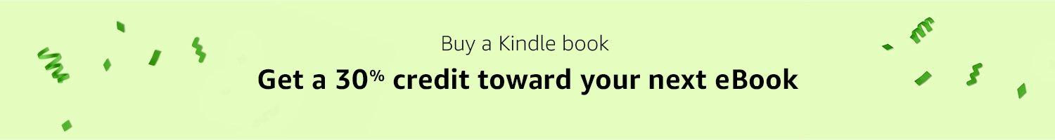 Buy a Kindle book, get a 30% credit towards your next eBook