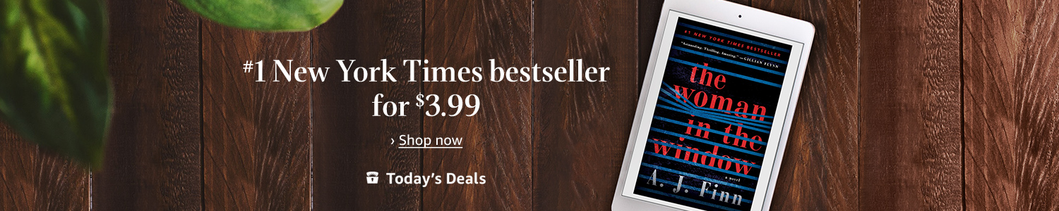 "Today only: ""The Woman in the Window"" for $3.99 on Kindle"