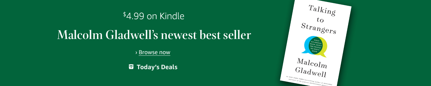 Today only: Malcolm Gladwell's newest best seller for $4.99 on Kindle