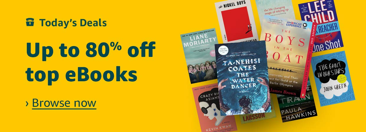 Up to 80% off top eBooks | Browse Now