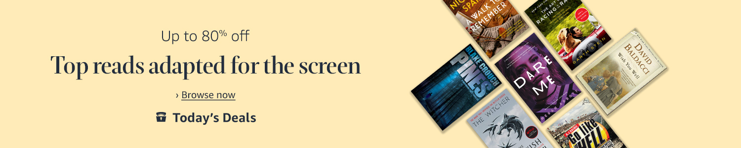 Today only: Up to 80% off top reads adapted for the screen