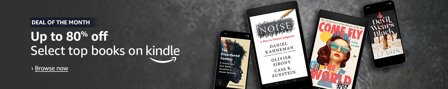 Deal of the month: Up to 80% off, select top books on Kindle