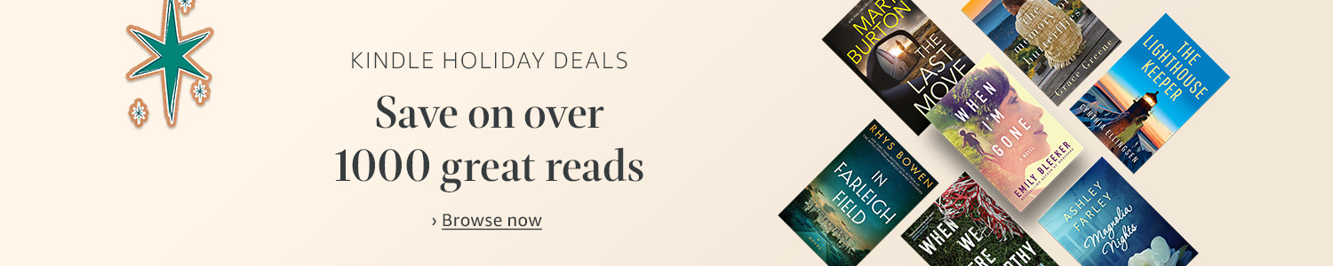 Kindle holiday deals, save on great reads