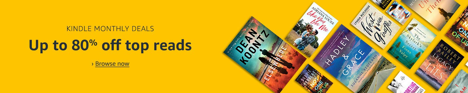 Kindle Monthly Deals: Up to 80% off top reads