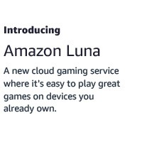 A new cloud gaming service from Amazon