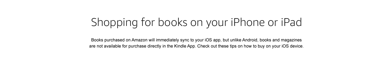 shopping for books on your iphone or ipad