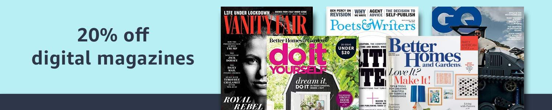 20% off all digital magazines