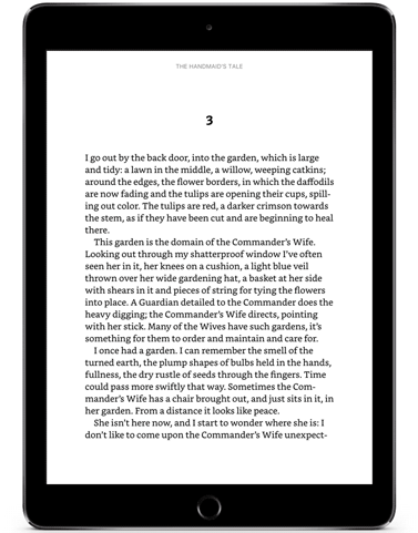 Ragged right page on Kindle tablet app