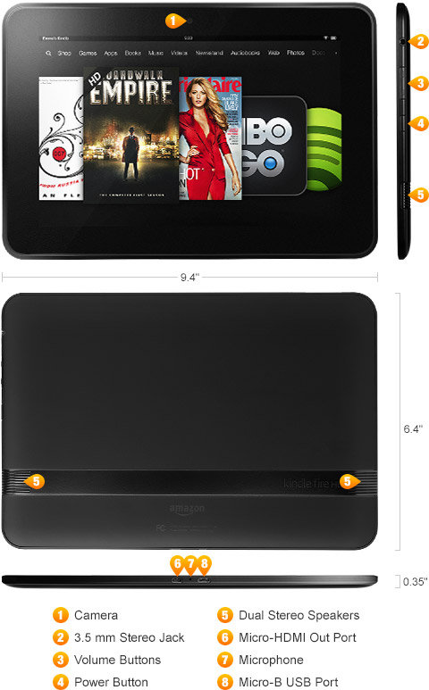 Amazon Com Certified Refurbished Kindle Fire Hd 8 9 Dolby Audio Dual Band Wi Fi 32 Gb Includes Special Offers Previous Generation 2nd Kindle Store