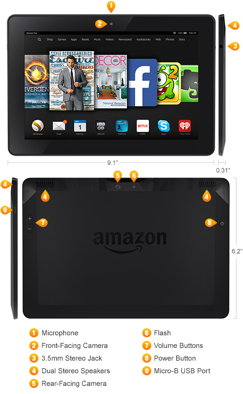 """2014 Genuine Battery For Amazon Kindle Fire HDX 8.9/"""" 4th Generation GPZ45RW"""