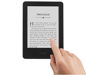 Hero  Kindle E-reader, 6″ Glare-Free Touchscreen Display, Wi-Fi (Previous Generation – 7th) feature mobile hero