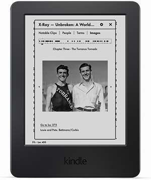 Xray  Kindle E-reader, 6″ Glare-Free Touchscreen Display, Wi-Fi (Previous Generation – 7th) feature mobile xray