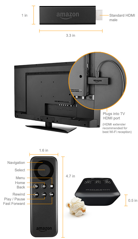 Fire tv stick amazon official site previous generation for What size tv do i need for a 12x15 room