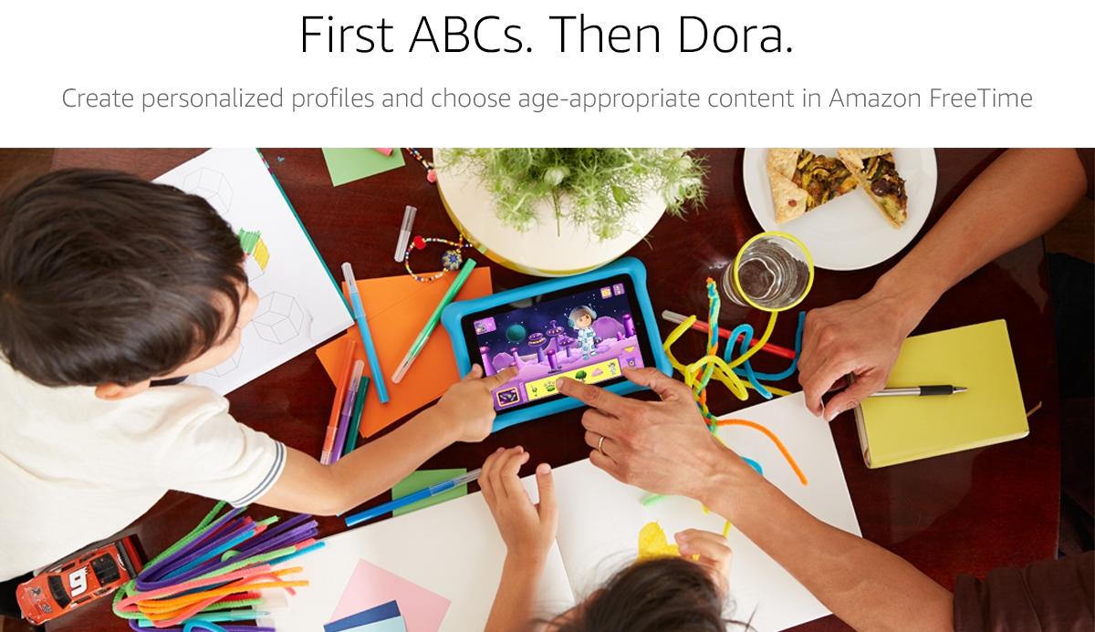 First ABCs. Then Dora.