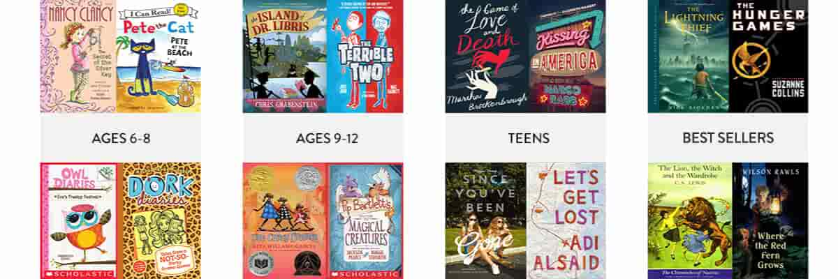 Ages 6-8, Ages 9-12, Teens, Bestsellers