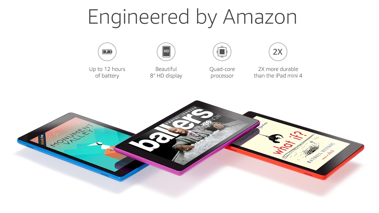 Fire HD 8 (previous generation - 6th) - Amazon Official Site - Up to  12-hour battery