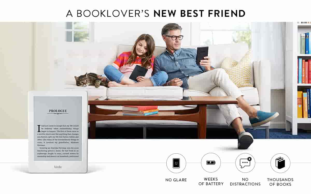 'A Booklover's New Best Friend' from the web at 'https://images-na.ssl-images-amazon.com/images/G/01/kindle/dp/2016/10566252/ke-feature-one-v2._QL20_CB284889064_.jpg'