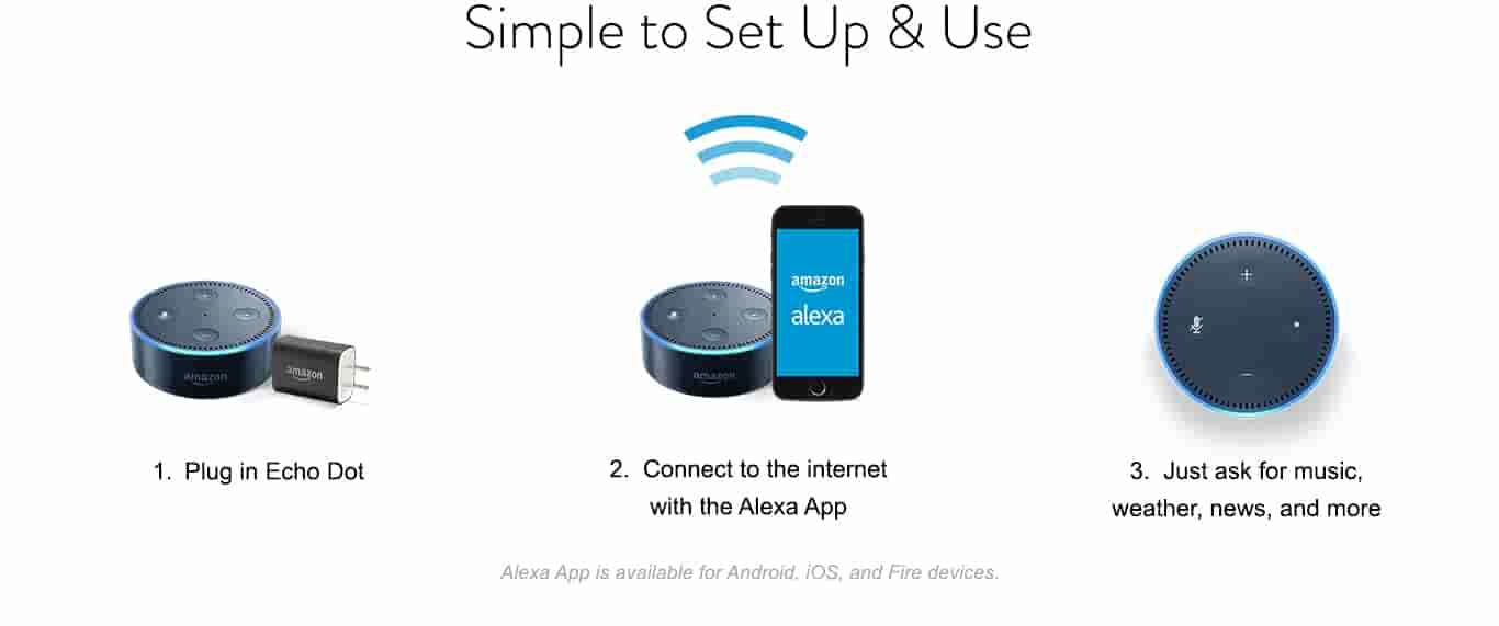 echo dot 2nd generation alexa enabled bluetooth speaker black. Black Bedroom Furniture Sets. Home Design Ideas