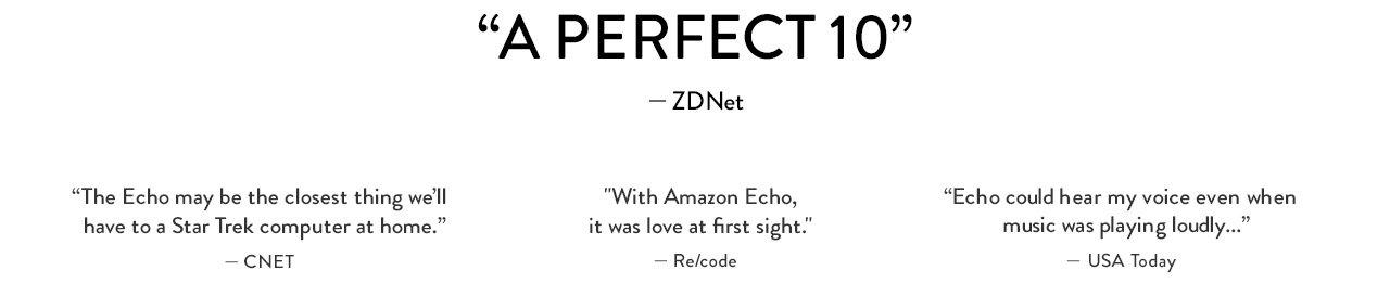 Echo- A Perfect 10