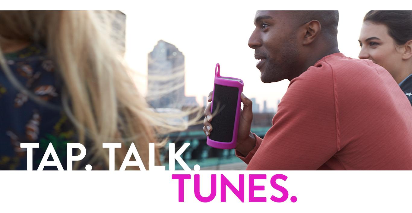 Tap. Talk. Tunes.