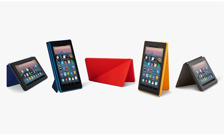 feature colors mobile - All-New Amazon Fire HD 8 Tablet Case (7th Generation, 2017 Release)