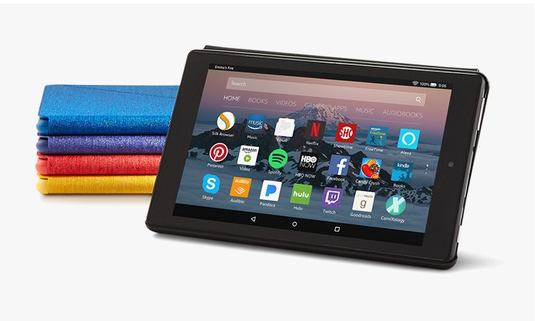 feature perfectpair mobile - All-New Amazon Fire HD 8 Tablet Case (7th Generation, 2017 Release)