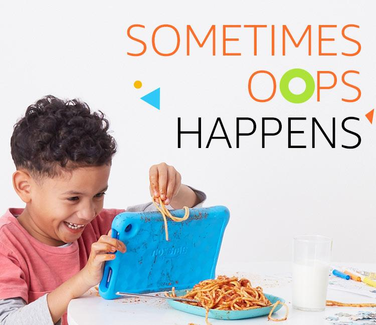 Sometimes oops happens - Amazon fire hd 8 kids edition broken
