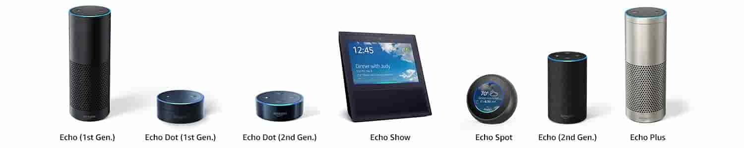 Echo Connect works with Echo (1st Generation), Echo Dot (1st Generation), Echo Dot (2nd Generation), Echo Show, Echo Spot, Echo (2nd Generation), Echo Plus