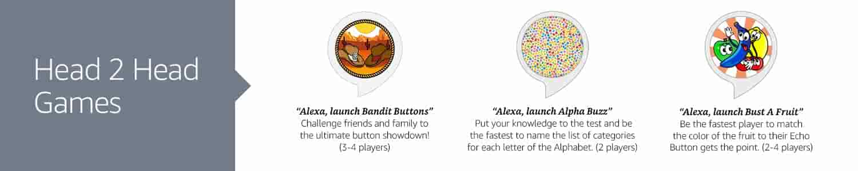 Echo Button skills, Bandit Buttons, Alpha Buzz, Bust a Fruit
