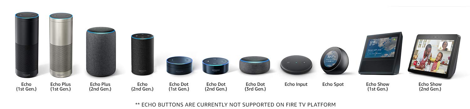 Echo Connect works with Echo (1st Generation), Echo Plus (1st Generation), Echo Plus (2nd Generation), Echo (2nd. Generation), Echo Dot (1st Generation), Echo Dot (2nd Generation), Echo Dot (3rd Generation), Echo Spot, Echo Show (1st Generation), Echo Show (2nd Generation)