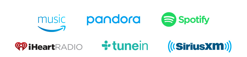 Amazon Music | Pandora | iHeartRadio | TuneIn''