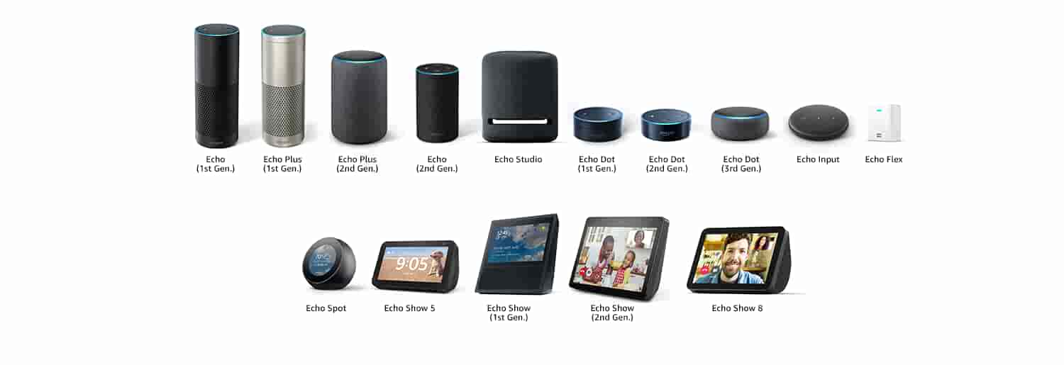 Echo Connect works with Echo (1st Generation), Echo Plus (1st Generation), Echo Plus (2nd Generation), Echo (2nd. Generation),  Echo Dot (1st Generation), Echo Dot (2nd Generation), Echo Dot (3rd Generation), Echo Spot, Echo Show  (1st Generation), Echo Show (2nd Generation), Echo Show 5, Echo Input
