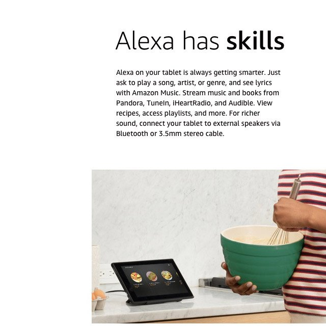 Alexa has skills''