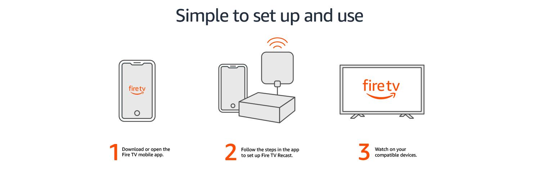 Fire TV Recast, over-the-air DVR, 500 GB, 75 hours