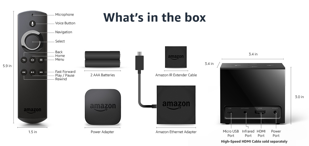 Amazon Com Fire Tv Cube Hands Free With Alexa And 4k