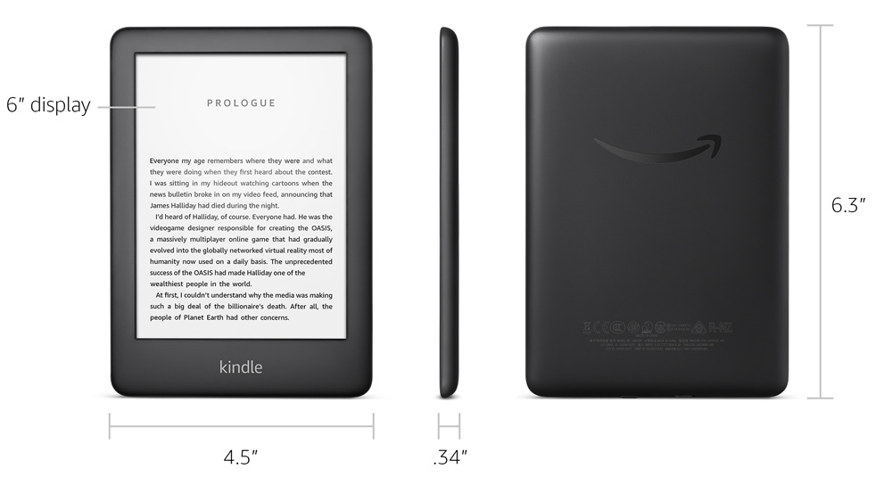 All New Kindle Now With A Built In Front Light Black Includes Special Offers