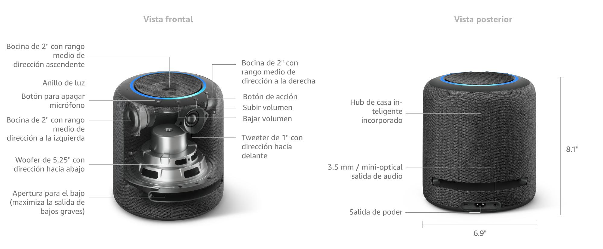 Amazon.com: Presentamos Echo Studio - Altavoz inteligente de ...