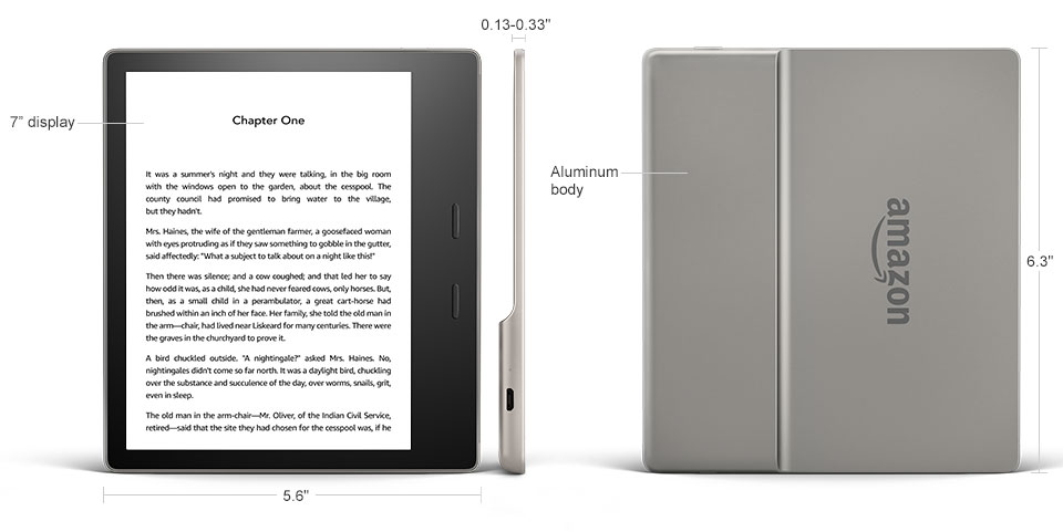 Black LED SLIM Reading Light For ALL-NEW Amazon Kindle