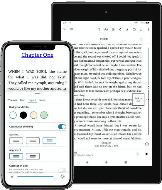 Read with continuous scrolling