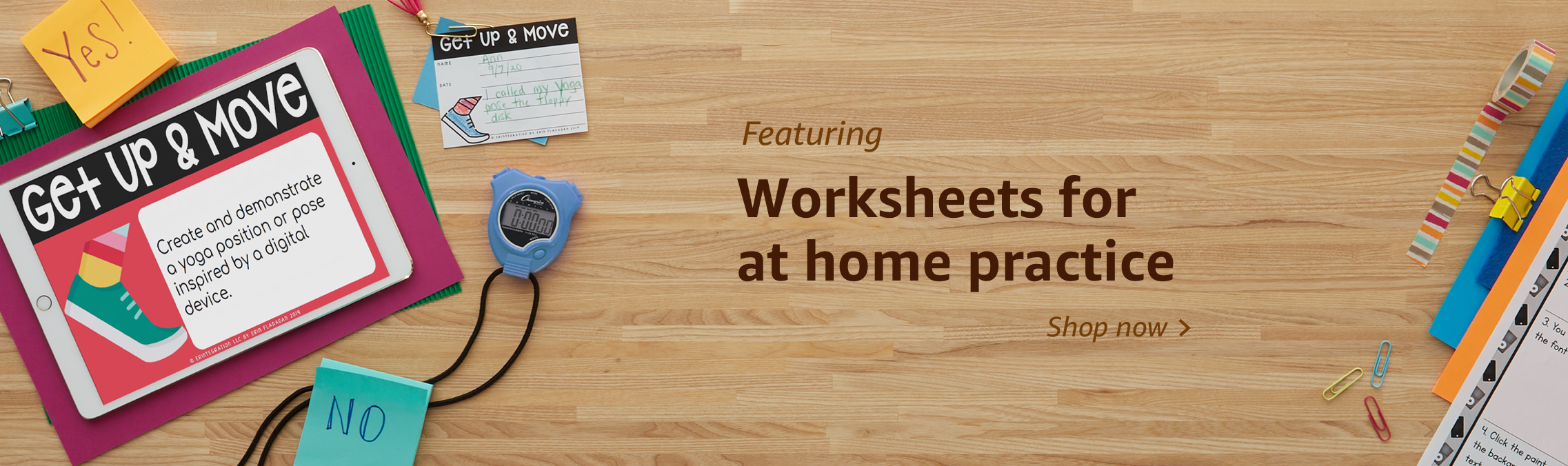 Worksheets for at home practice