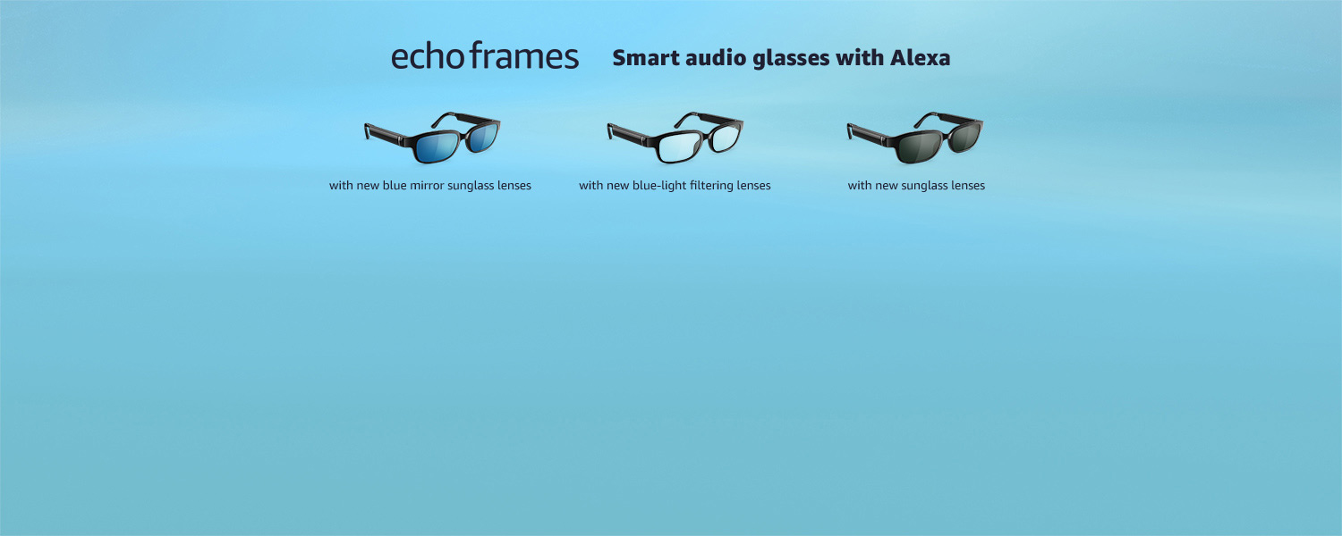 Echo Frames with new blue mirror sunglass lenses