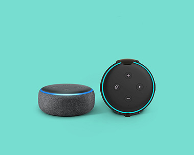 Save 49% on Echo Dot 2-pack with wall mounts.