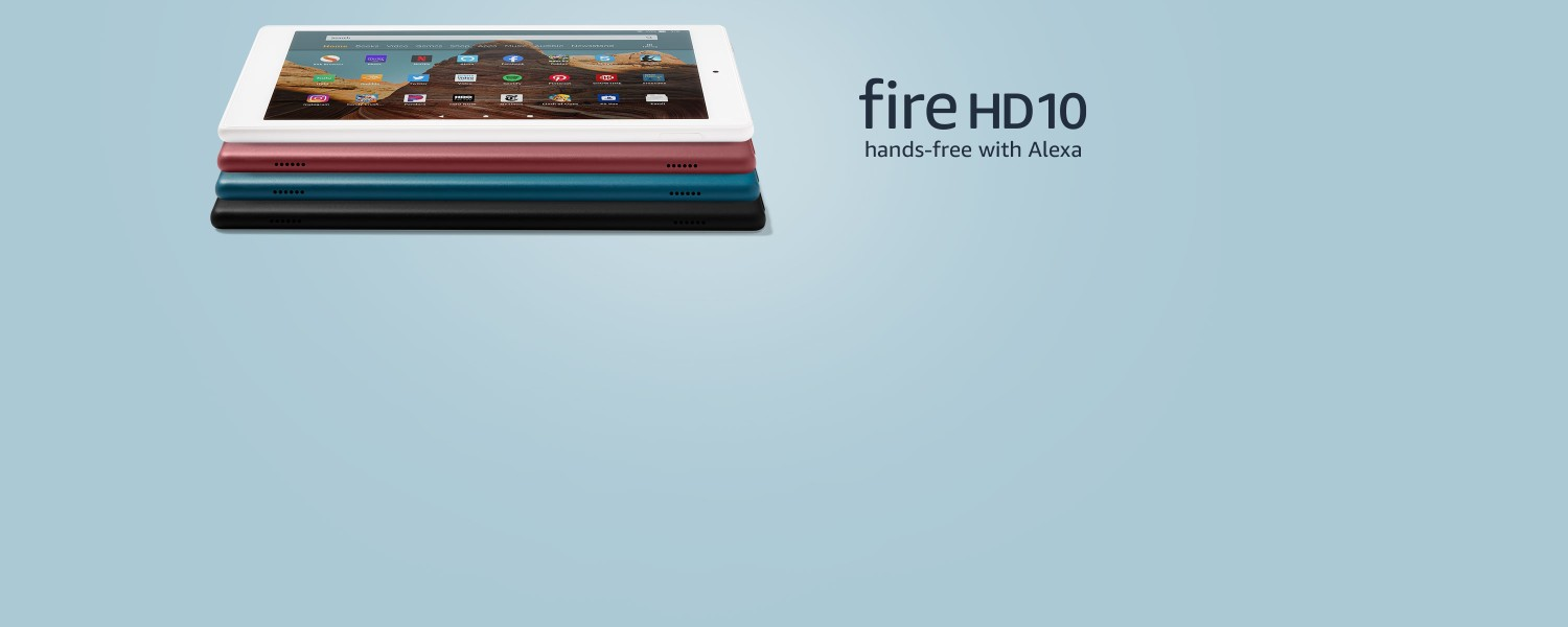 All-new Fire HD 10 hands-free with Alexa.