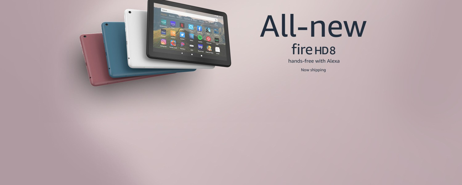 All-new Fire HD 8. Hands-free with Alexa.