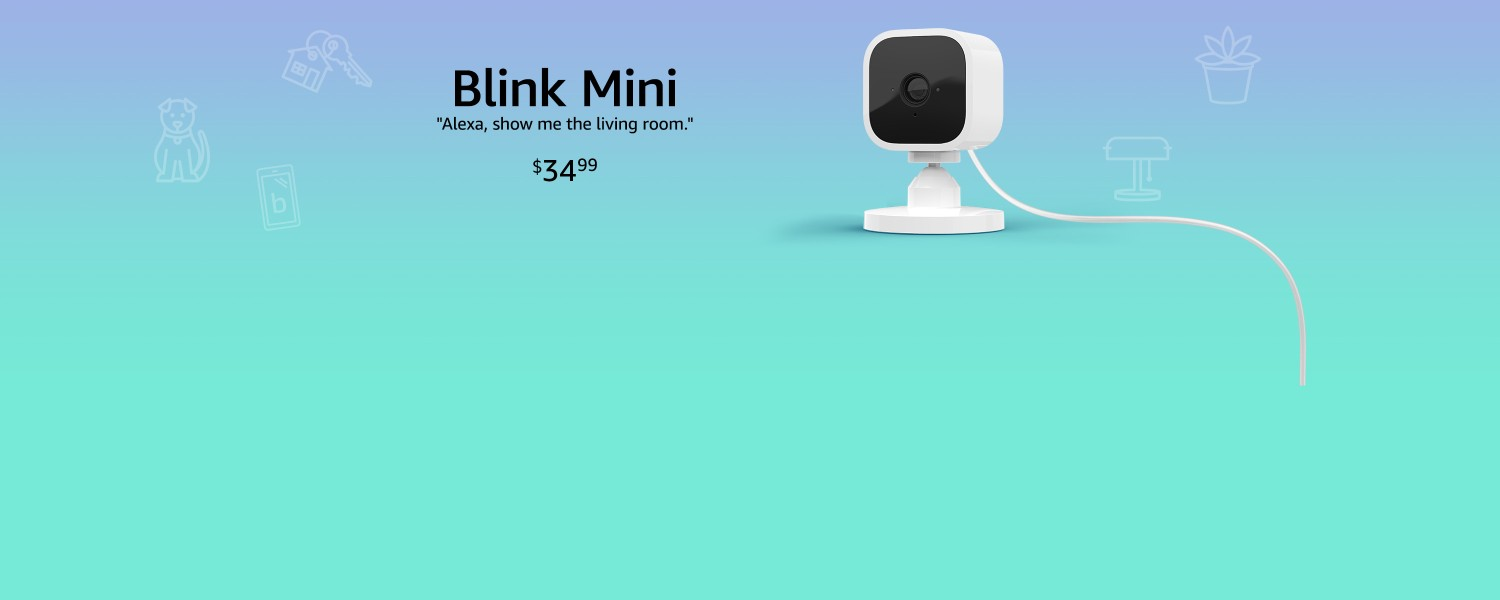 Alexa, show me the living room camera. | Blink | $34.99
