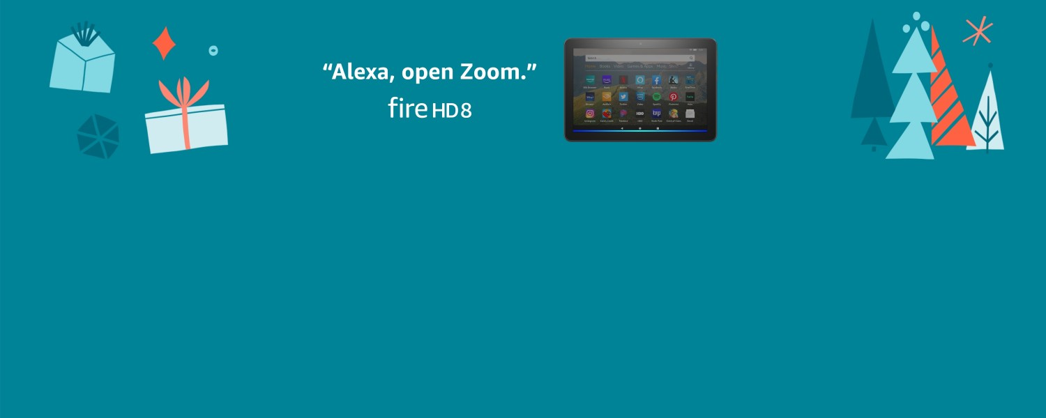 Alexa, open Zoom. Fire HD 8.