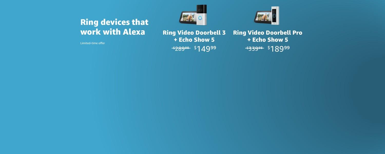 Ring Video Doorbell 3 + Echo Show 5